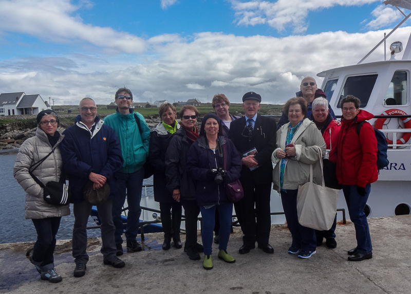 Guests on Discover the North tour with the King of Tory Island - County Donegal