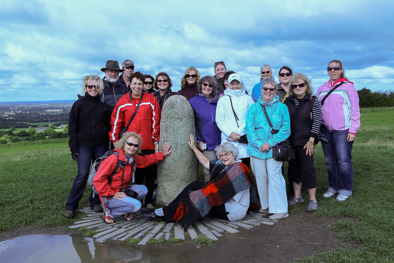 Guests on Castles, Saints & Druids Yoga Retreat - 2015 at the Hill of Tara