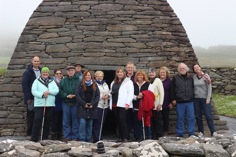 Guests on Places of Resurrection tour 2015 at Gallarous Oratory in Dingle