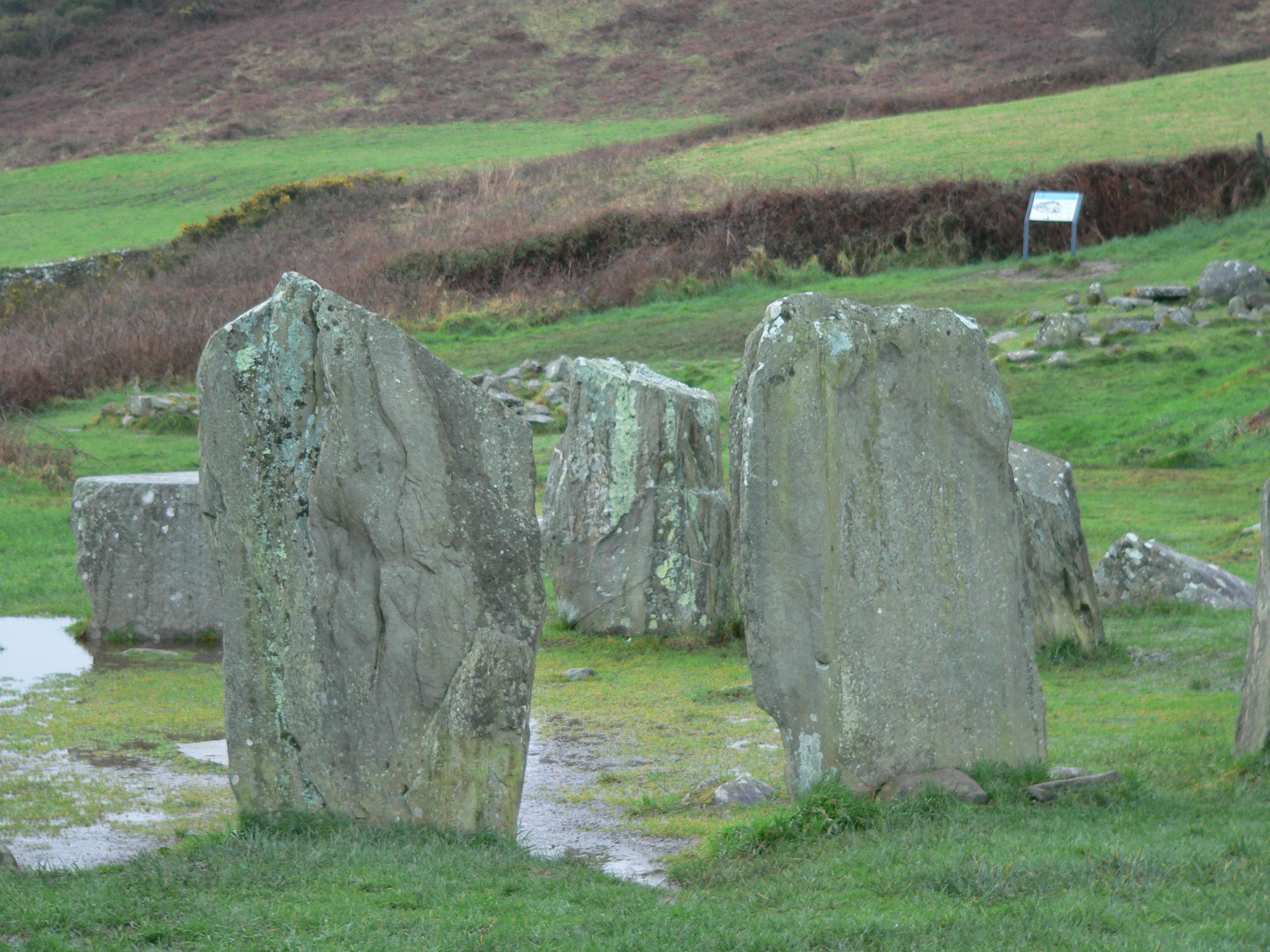 Entrance stones to Drombeg Stone Circle