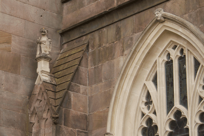 Gargoil on St. Patrick's Cathedral in Armagh