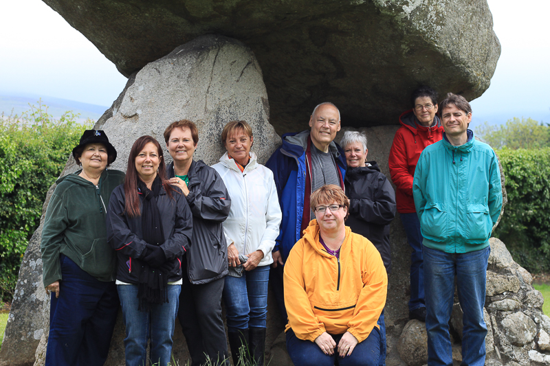 Guests at the Proleek Dolmen - Discover the North, 2014