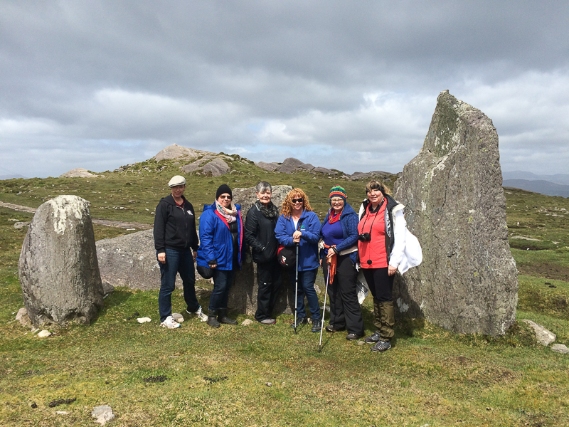 Guests on Places of Resurrection tour - Cashelkeelty stone circle