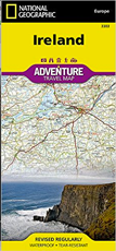 National Geographic Ireland Adventure Map